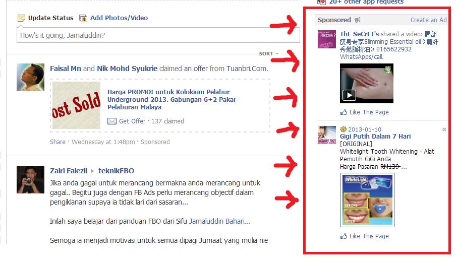 Kedudukan Iklan FB