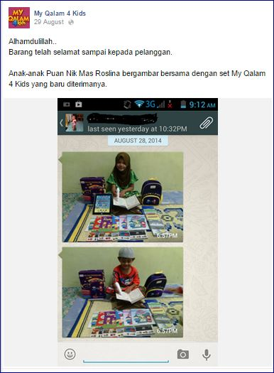 facebook post Stok sampai