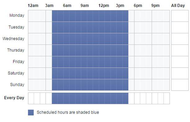schedule ads