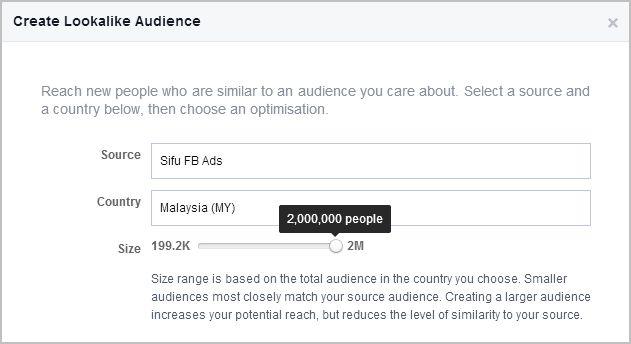 lookalike audience, reach