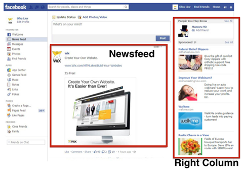 Optimasikan Iklan 'Desktop News Feed' dan 'Right Column' Berasingan