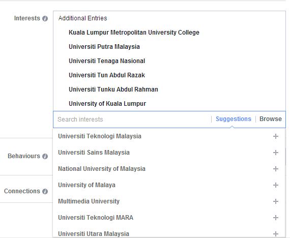 interest universiti