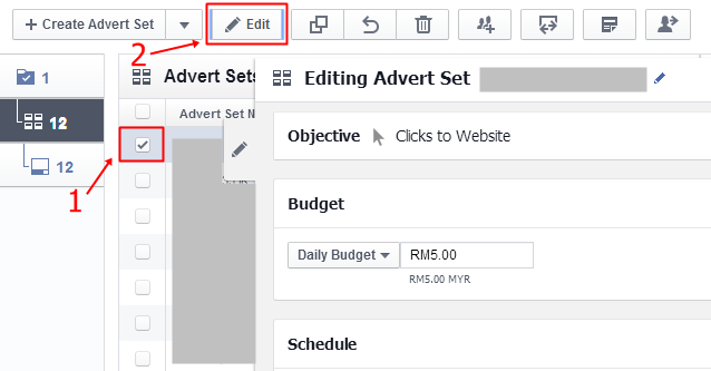editing advert