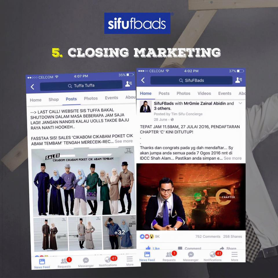 closing marketing